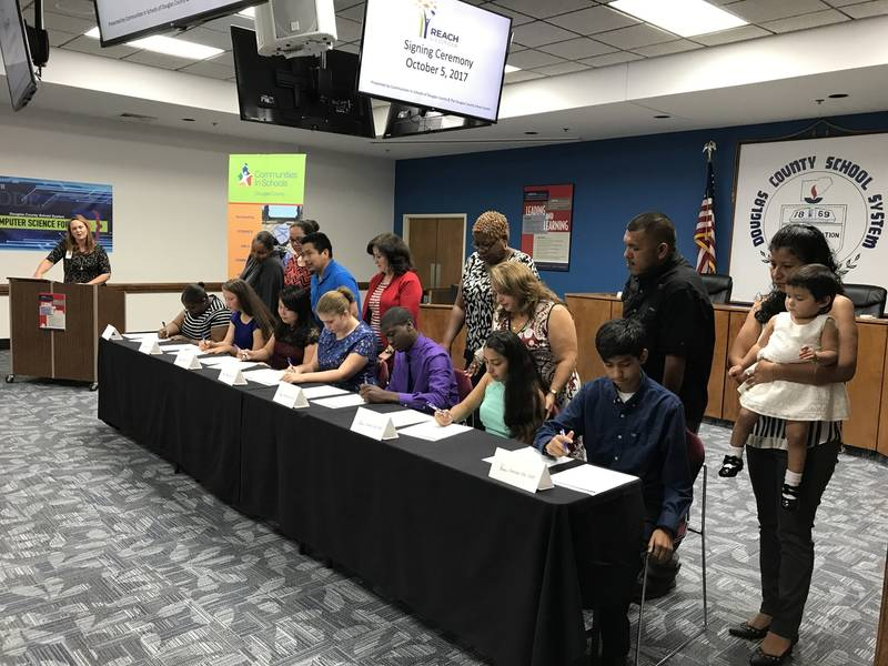 7 Douglas Students Sign REACH Scholarship Agreements Douglasville