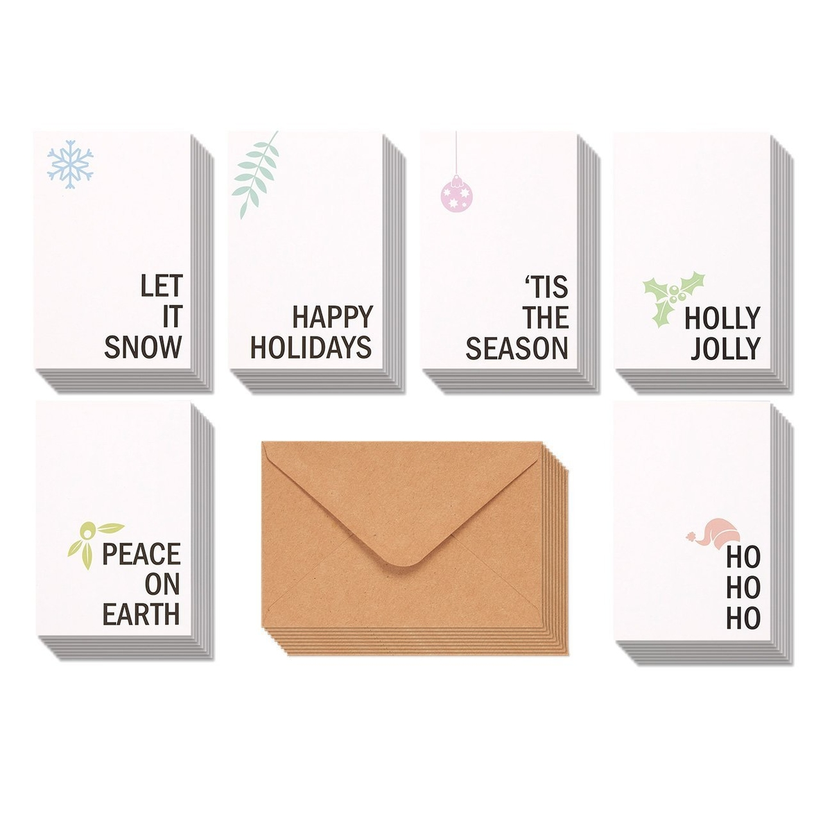 These holiday cards are too merry to miss dealtown us patch keep your warm wishes simple and chic with greeting cards that cut right to the chase each of these six designs has a simple holiday message and m4hsunfo