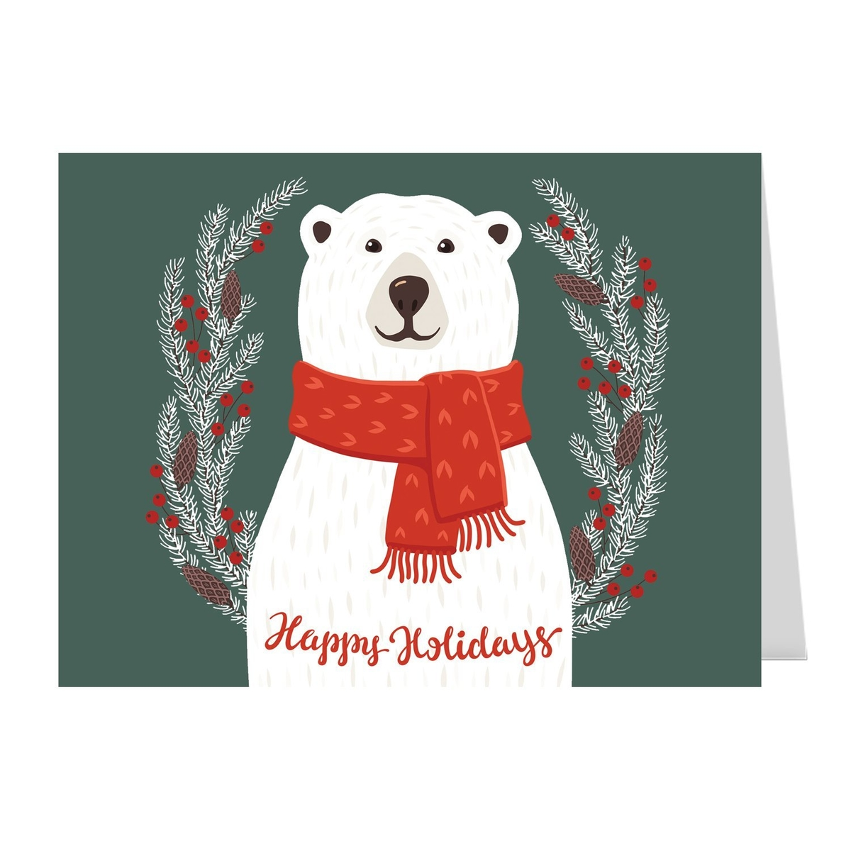 These holiday cards are too merry to miss dealtown us patch smiling polar bear holiday cards 25 pack send warm winter wishes to everyone you know with this festive and friendly polar bear card kristyandbryce Gallery
