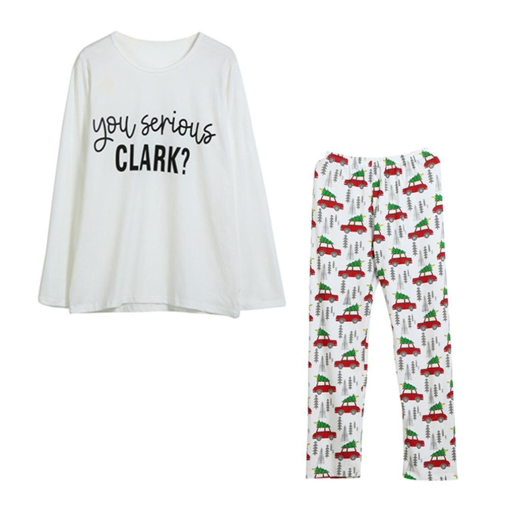 "If you like ""National Lampoon's Christmas Vacation,"" you'll love these ""You Serious Clark?"" pajamas! If your family is anything like the Griswolds, ..."