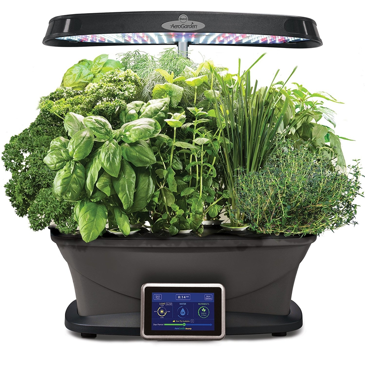 Grow Fresh Herbs, Veggies, Salad Greens, Flowers And More In This Soil Free  Indoor Gardening System. It Has A Full Spectrum 45 Watt LED Lighting ...