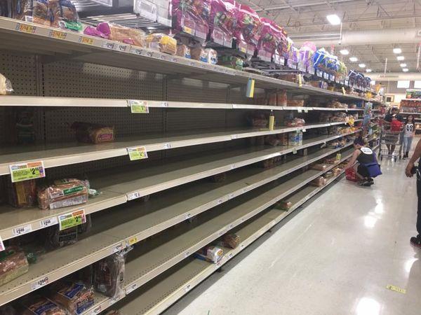 Hurricane Harvey Bottled Water Food Flying Off Shelves