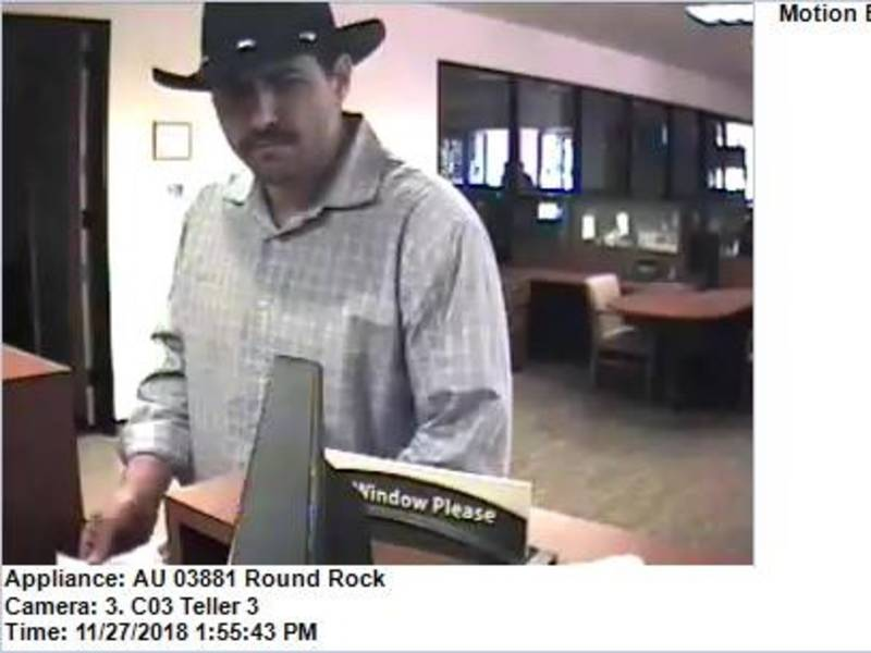 Round Rock Police Seek Public S Help To Id Bank Robbery Suspect