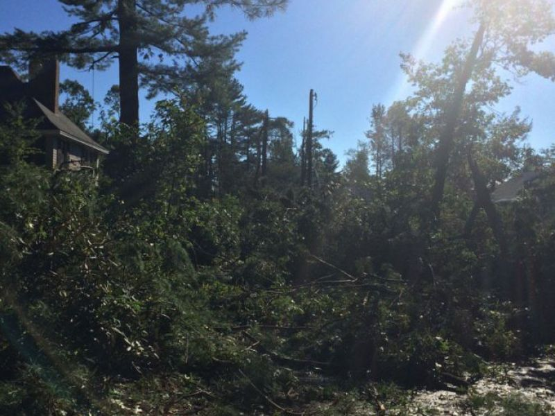 Concord Tornado Rips Through Power Lines Leaves Over