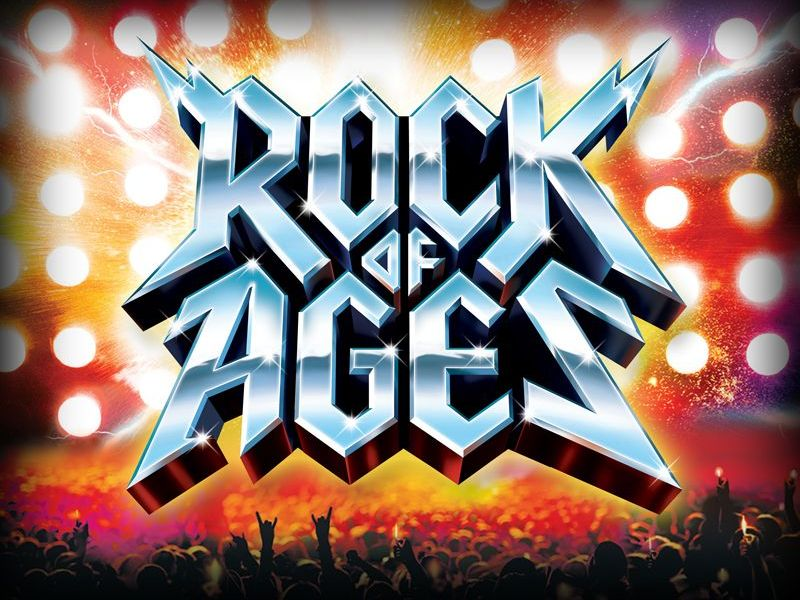 Image result for rock of ages musical logo
