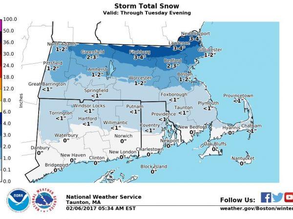 Massachusetts Weather Forecast Winter Weather Advisory