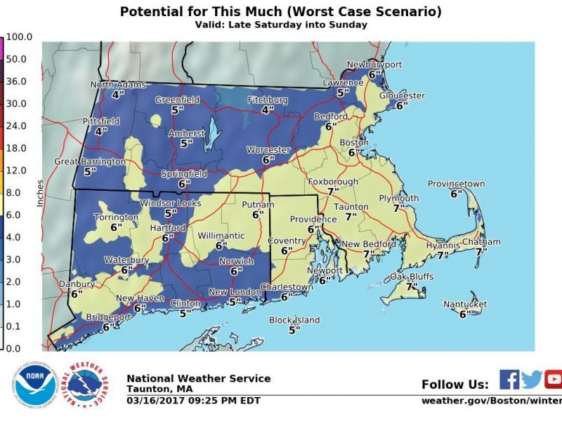 Massachusetts Weather Forecast More Snow This Weekend Up To 6 7