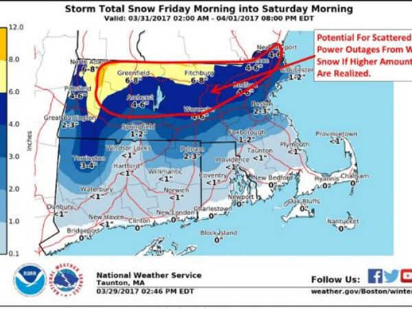 Southern New England gets second day of snow, sleet, rain