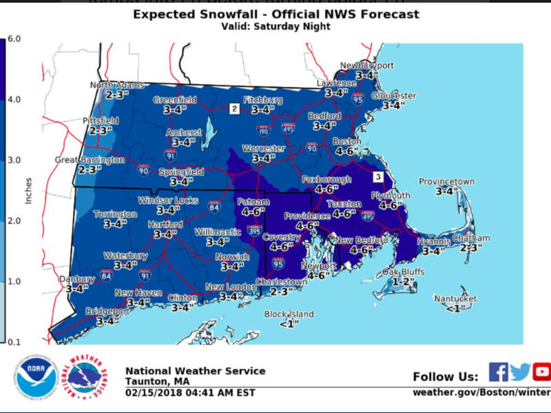 ma snow forecast storm bringing 3 6 inches