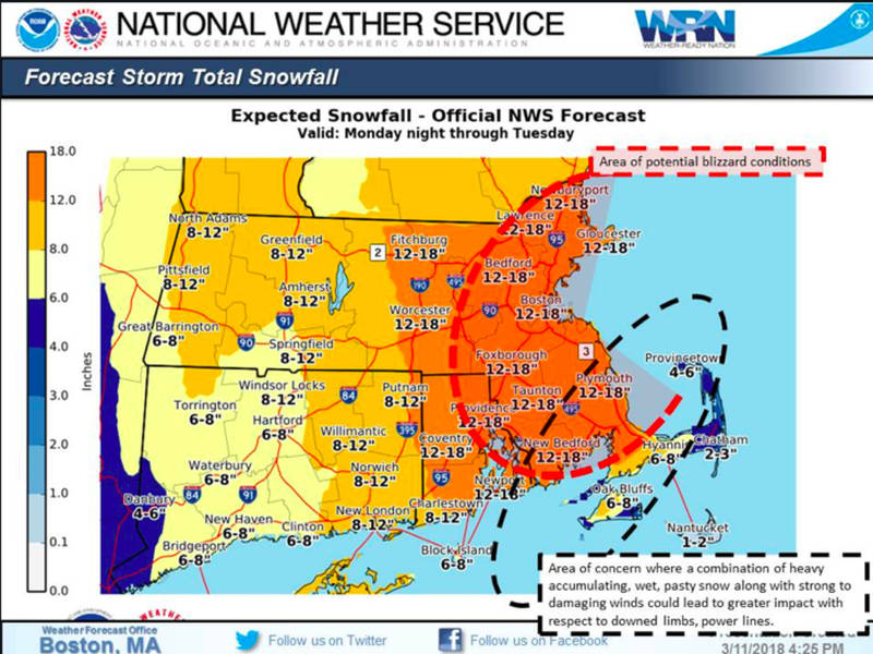 MA Weather Forecast: Snow Totals Increase Drastically | Boston, MA