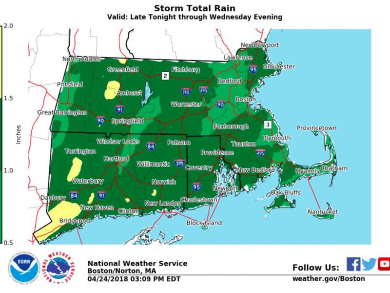 RI Weather Forecast: \'Widespread Soaking\' Rain Inbound | Newport, RI ...