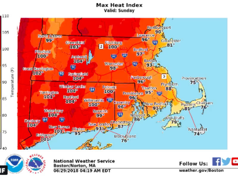 MA Weather Forecast Heat Wave Could Last 7 Days