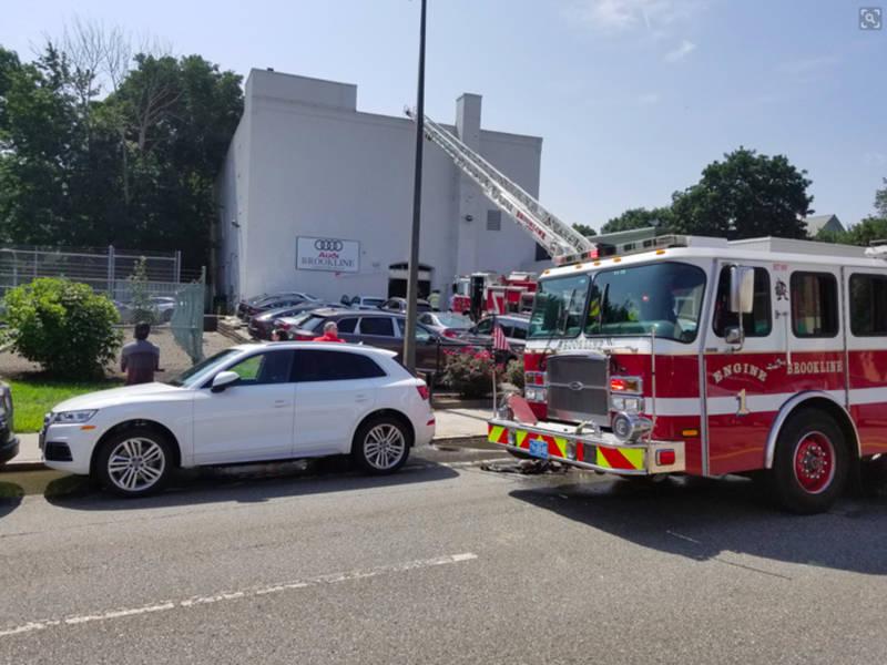Brookline Car Fire Closed Route East Brookline MA Patch - Audi brookline