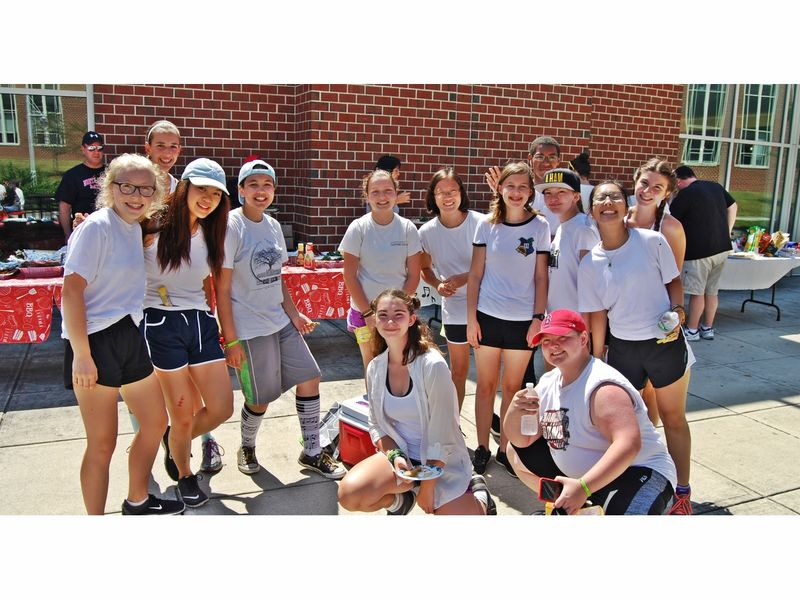 North Andover High School Marching Band Holds Food Drive During