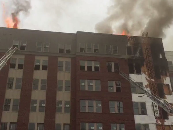 Firefighters Battle Blaze at College Park Apartment Building