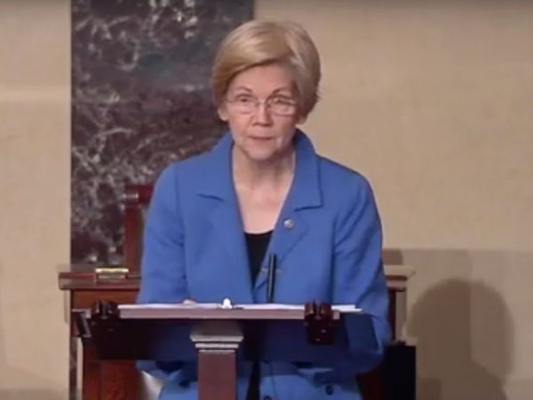 Elizabeth Warren, Silenced by the Senate, Finds Her Voice on Facebook Live