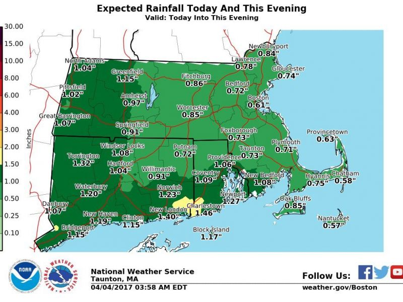 Massachusetts Weather Forecast: Heavy Rains Could Bring Minor