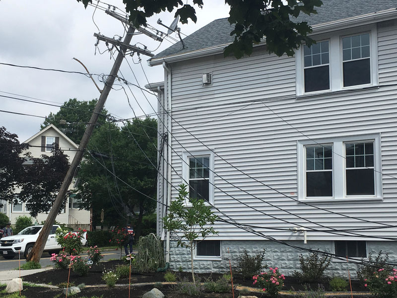 Watertown Power Outage: Utility Pole Down, Street Closed
