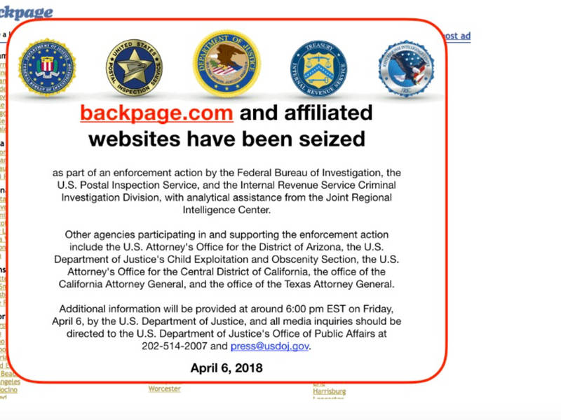 Backpage Com Shut Down As Federal Government Makes Moves Phoenix