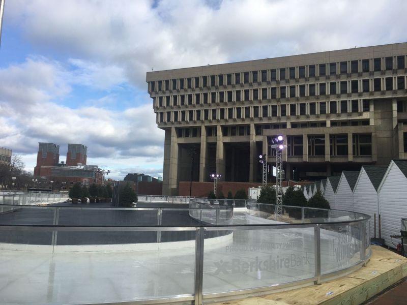 Boston Winter Wonderland Opens On City Hall Plaza