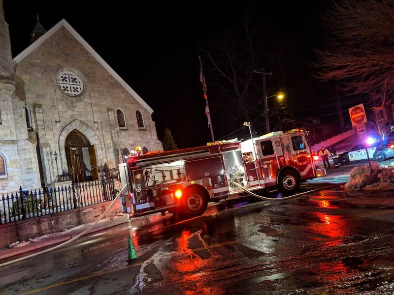 Image result for Fire Breaks Out Inside Westport Church