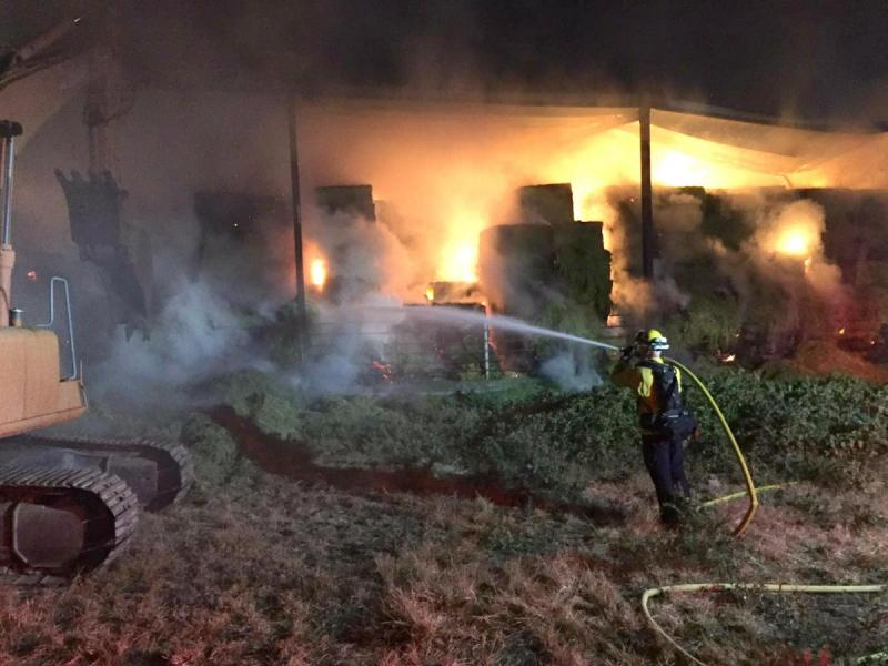 Petaluma Hay Barn Fire Is Mostly Contained: Officials ...