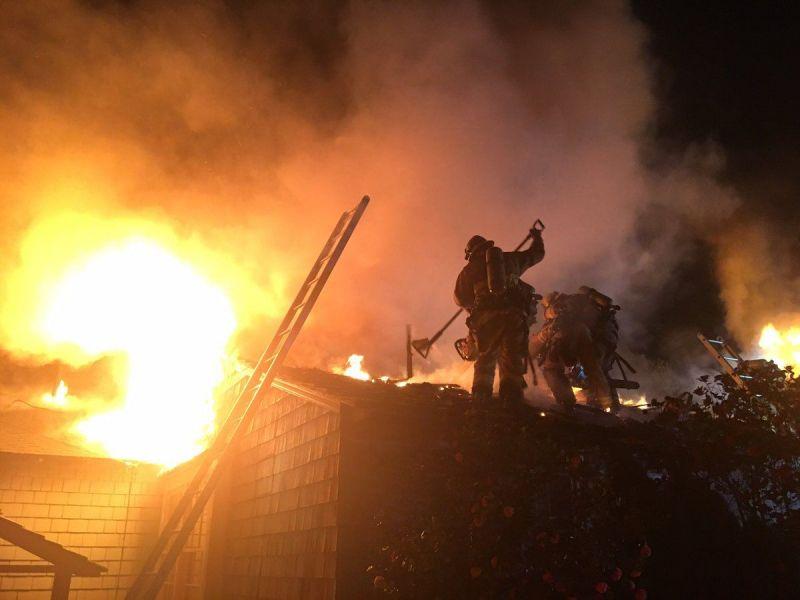2 Alarm Fire Destroys Home Near Virginia Country Club In