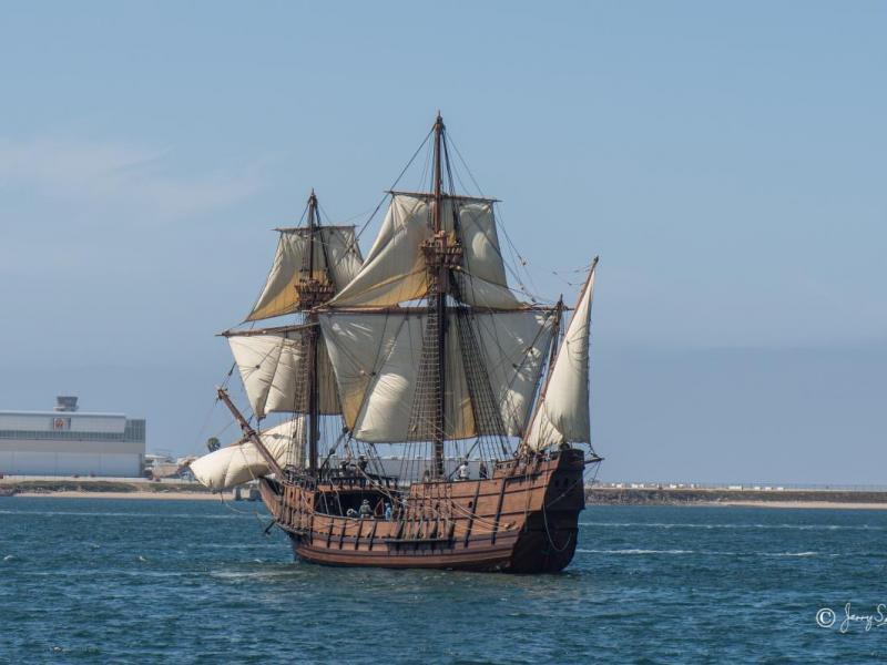 San Salvador Replica Of Ship Used To Discover San Diego
