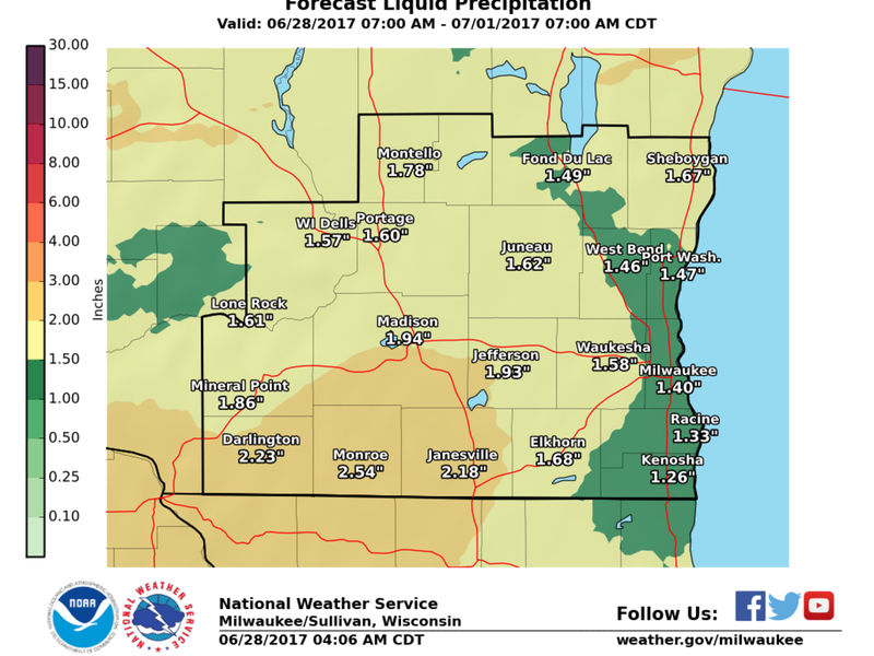 Thunderstorms Approaching Metro Milwaukee Area Today   Greendale, WI ...