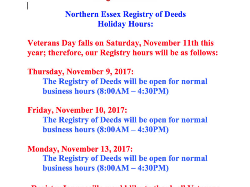 County deeds essex registry