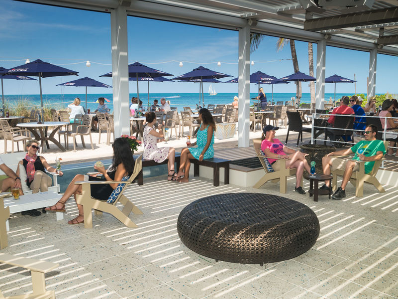 Beach house restaurant unveils renovations new front deck bradenton fl patch