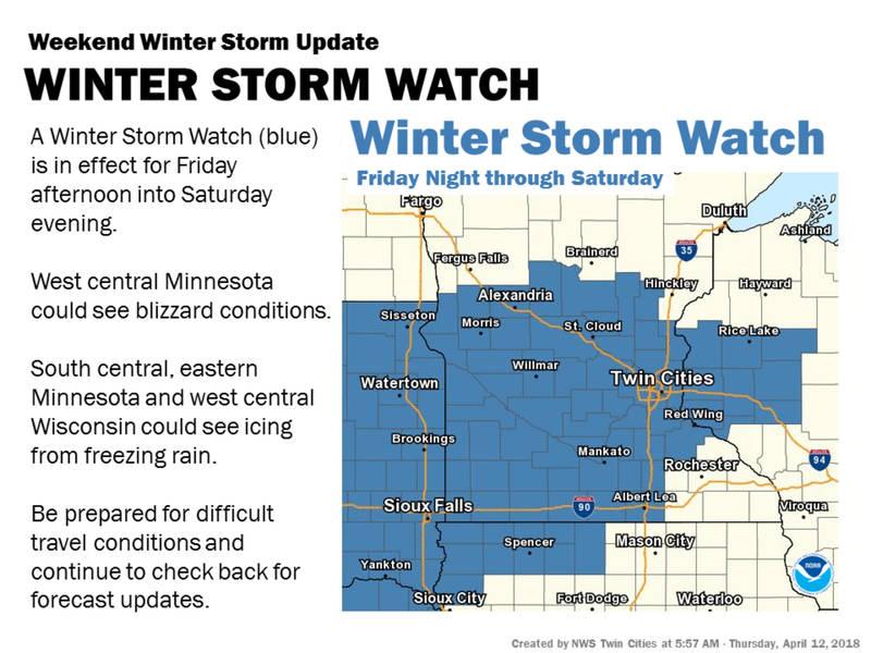 minnesota weather  weekend storm will be a  u0026 39 triple threat
