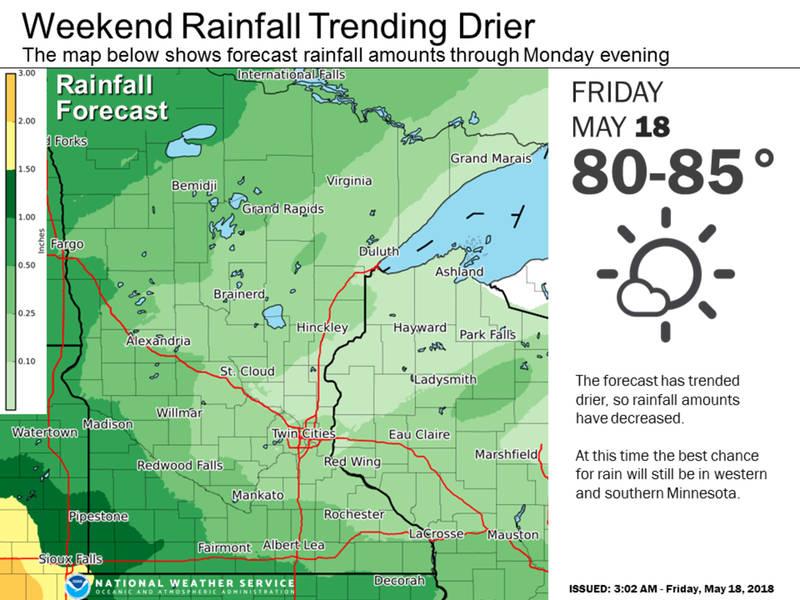 minnesota weather  twin cities weekend forecast