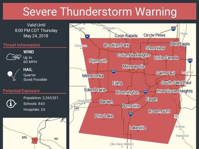 Minnesota Weather: Hail, Wind Damage Expected In Twin Cities ...