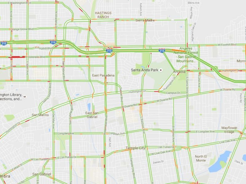 Google Traffic Map Los Angeles.Traffic Woes In Arcadia Los Angeles County Arcadia Ca Patch