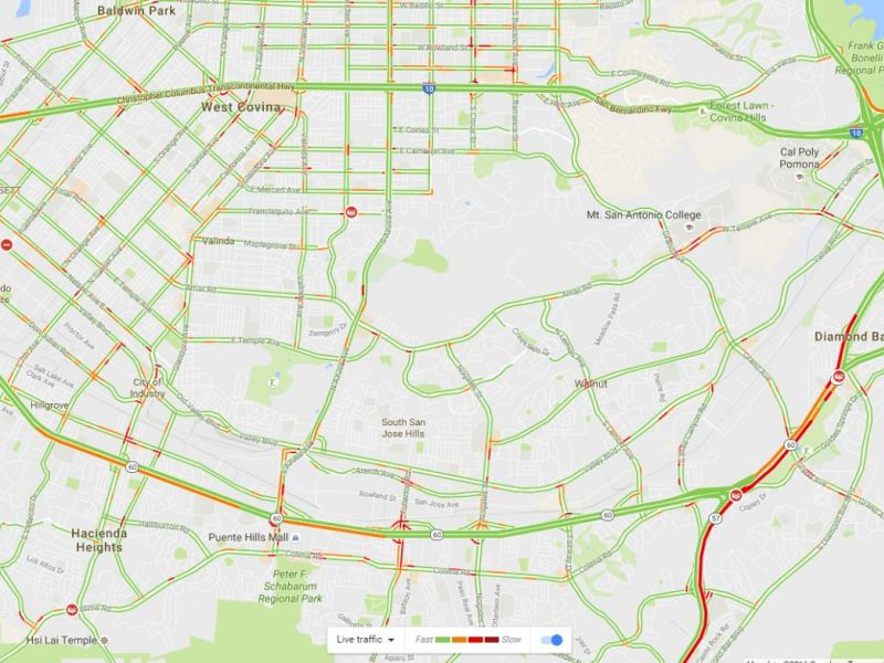Google Traffic Map Los Angeles.Traffic Woes In Diamond Bar Los Angeles County Diamond Bar Ca Patch