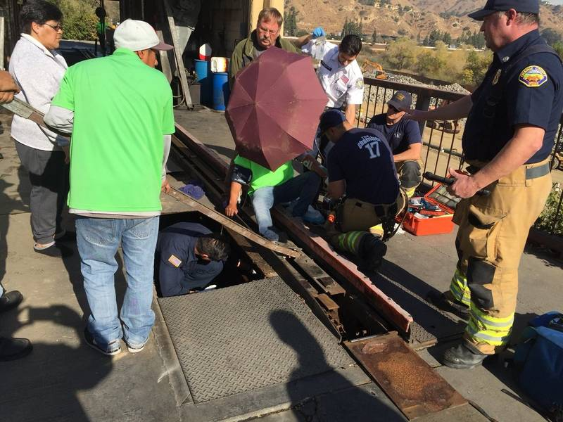 OC Firefighters Free Trapped Man From Car Wash | Mission ...