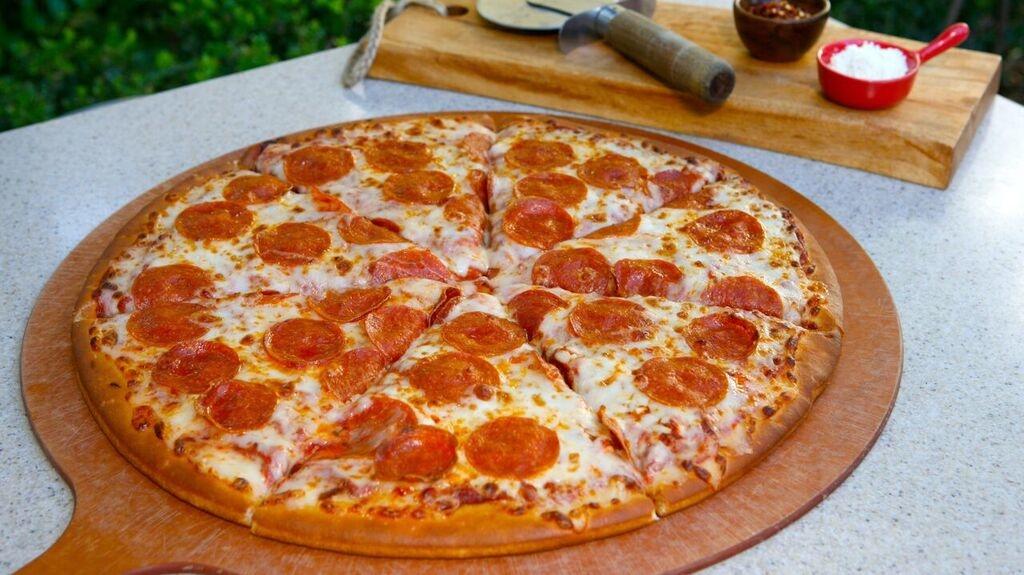 Pepperoni Pizza Boardwalk Pasta And Disney S California Adventure Park Tomato Sauce Topped With Mozzarella Cheese Slices Of