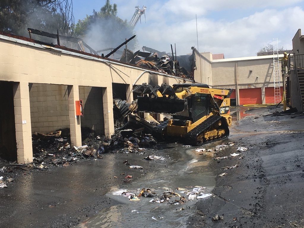 Dramatic Photos Of Burning Storage Unit Fire In Laguna