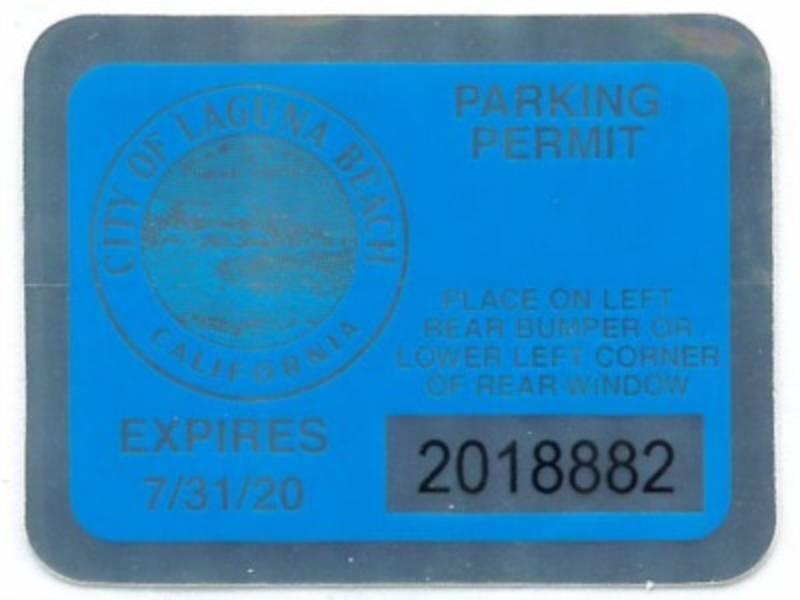 City Of Laguna Beach Parking Permit