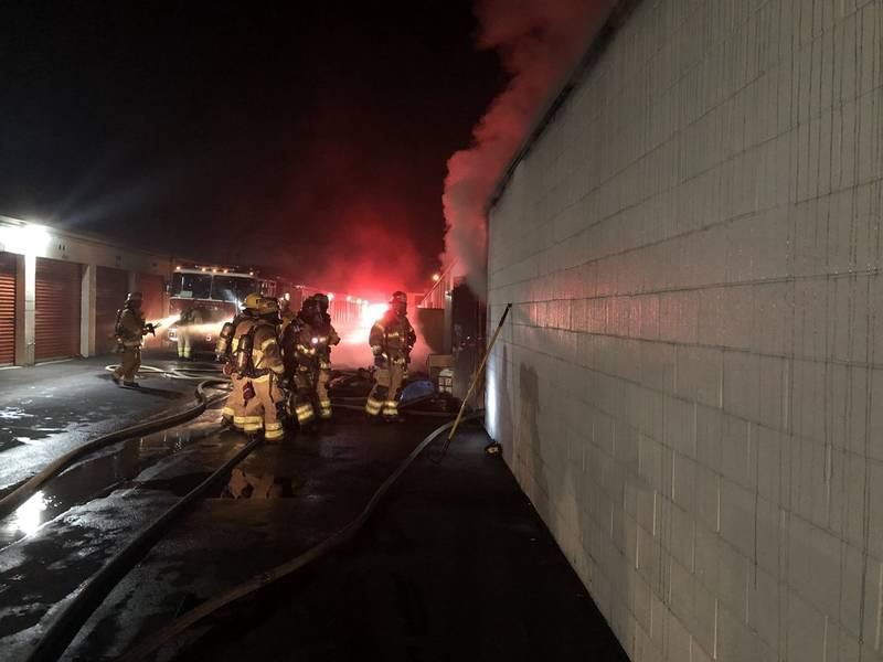 Storage Units Gutted By Flames In Orange County Blaze