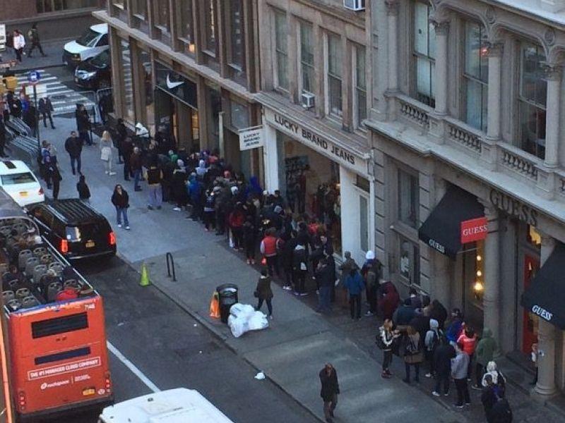 SoHo Residents Protest 5-Story Nike Store in Heart of Neighborhood. SOHO, NY  ...