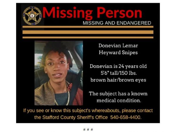 Missing Person Sought In Stafford Police Fredericksburg