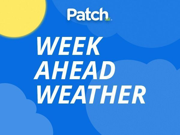Weather: Chance of rain, high near 57