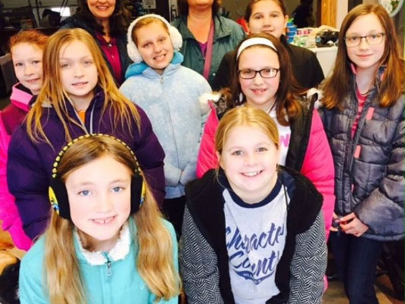 Girl Scout Troop 747 Earns Bronze Award  New Lenox, Il Patch-8766