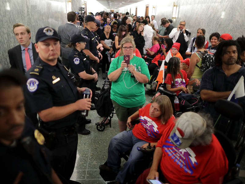 Over 180 Health Care Protesters Arrested By U.S. Capitol Police