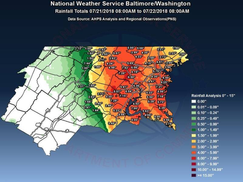 Here\'s How Much Rainfall Montgomery Village Got This Weekend ...