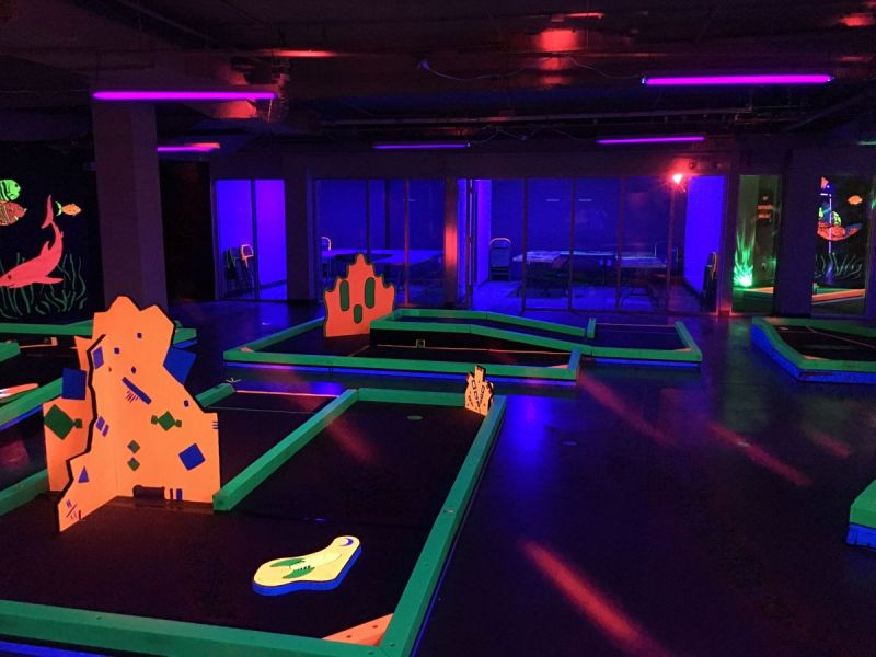 Glowgolf opens first long island location garden city ny patch for Garden city mini golf