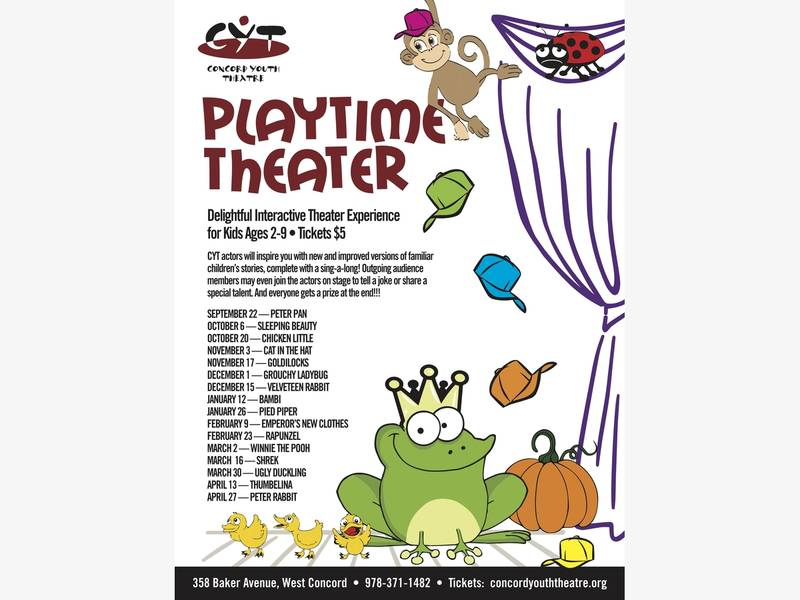 Playtime Theater Returns at Concord Youth Theatre