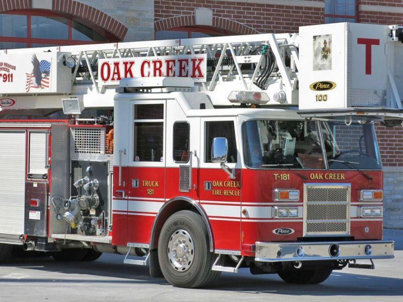 Oak Creek Fire Department Reports Dumpster Fire In Front
